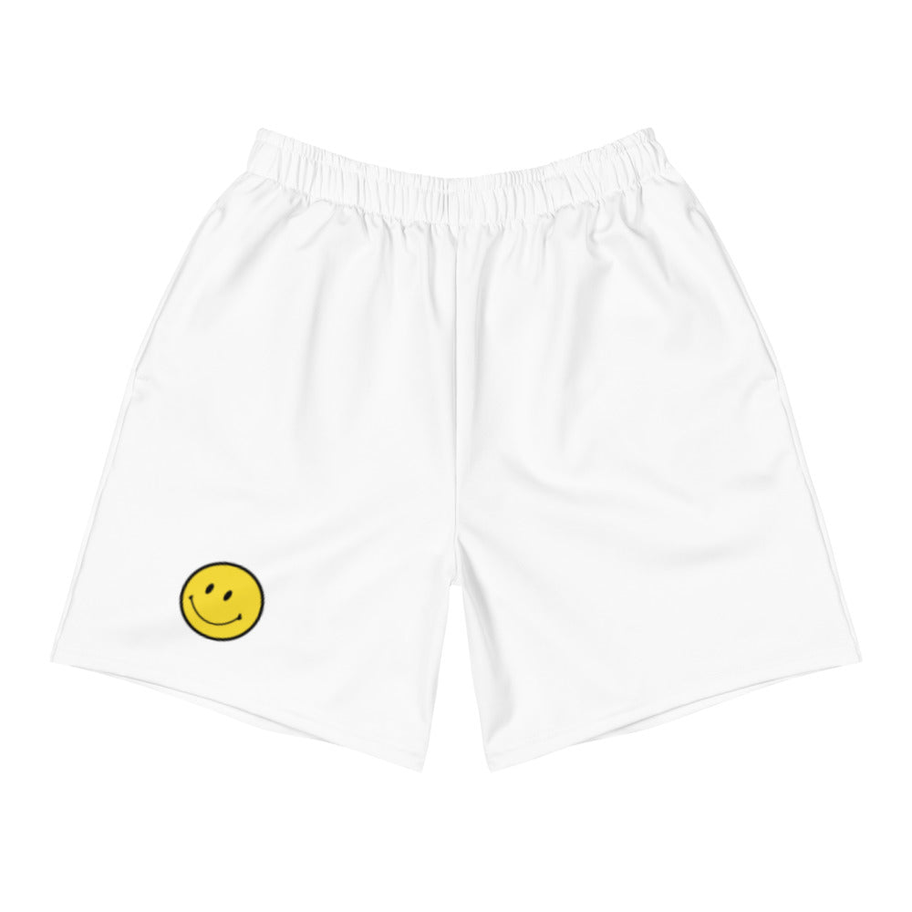 Men's Athletic Long Shorts. Smile emoji