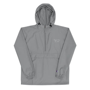 Tiger Co Est 2020 Embroidered Champion Packable Jacket