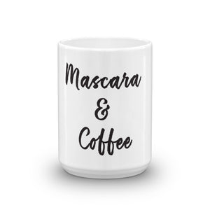 Mascara and Coffee Mug