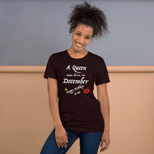 A Queen Was Born in December Short-Sleeve Unisex T-Shirt
