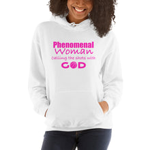 Phenomenal Woman Calling the Shots with God Hooded Sweatshirt