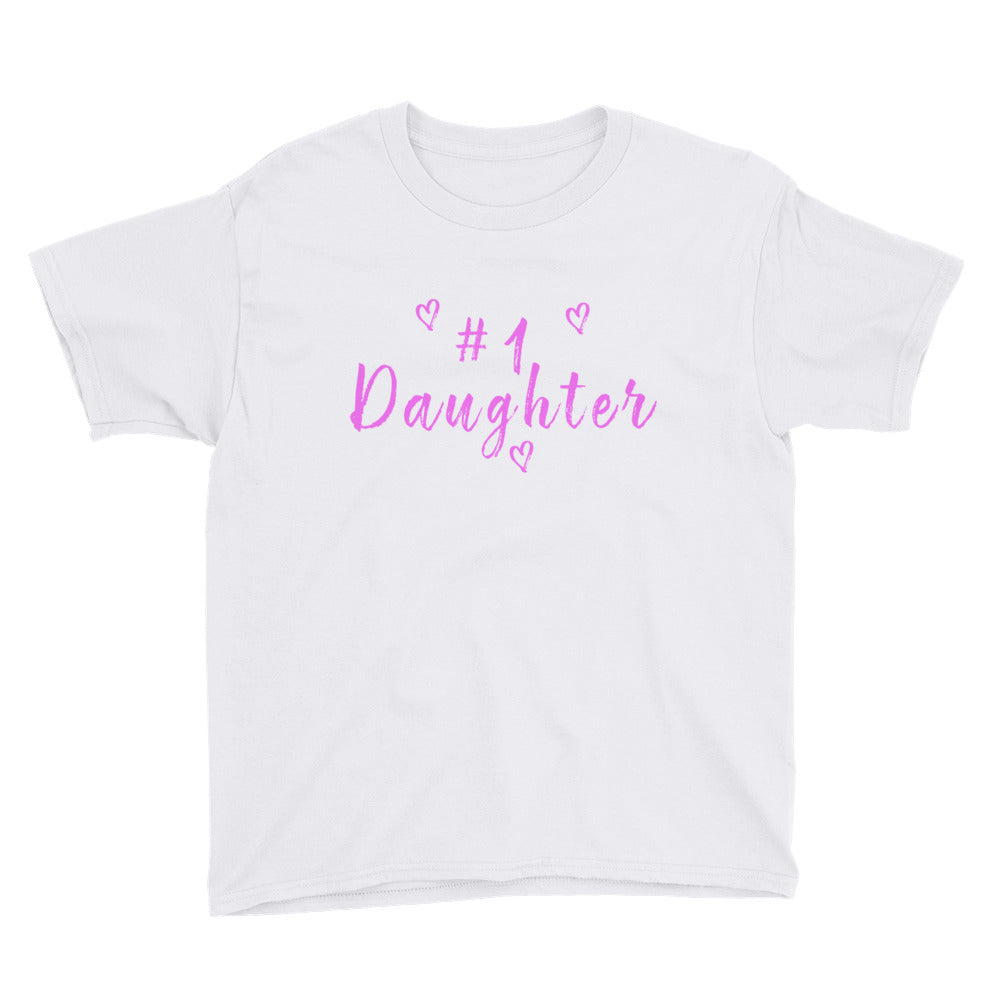 #1 Daughter Youth Short Sleeve T-Shirt