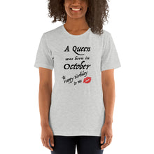 A Queen Was Born in October Short-Sleeve Unisex T-Shirt