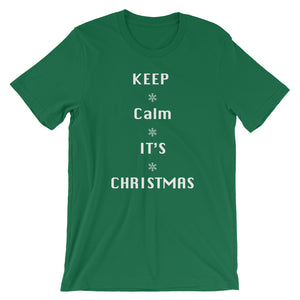 Keep Calm It's Christmas Short-Sleeve Unisex T-Shirt