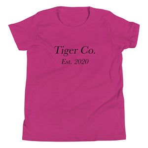 Tiger Co EST 2020.Youth Short Sleeve T-Shirt