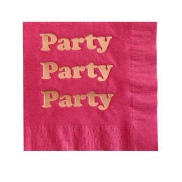 Party Foil Napkins - Hot Pink and Rose Gold Foil