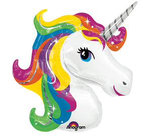 "The ""Uni-Khari"" 33"" Rainbow unicorn balloon"