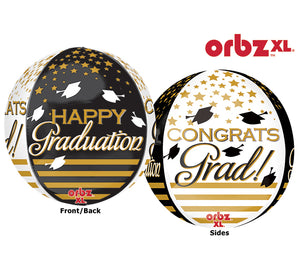 "16""GRADUATION BALLOON-ORBZ"