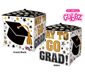 "15"" GRADUATION CUBE BALLOON"