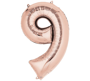 "34"" Rose Gold Number Balloons"