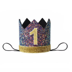 Multi Sparkle First Birthday Crown