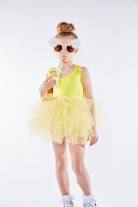 Racerback Yellow Tutu Dress