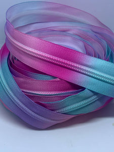 Pink Purple Blue Ombre' Zipper By the Yard Hardware