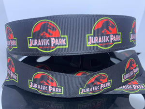 "1 yard 7/8"" Original Jurassic Park Grosgrain Ribbon"