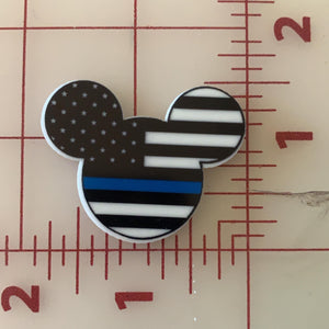 Mickey Mouse Police Blue Line Flat back Printed Resin