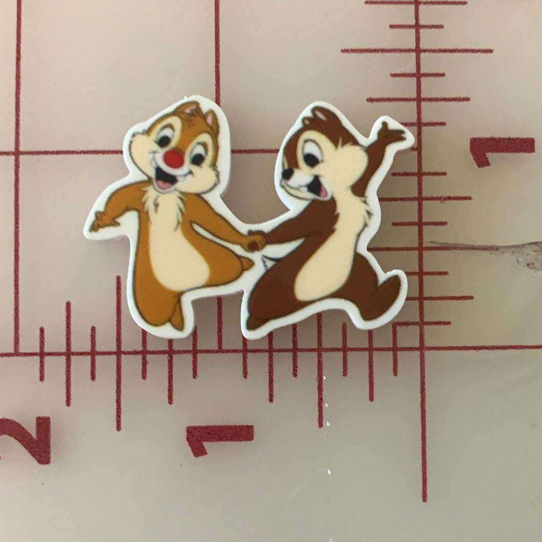Chip and Dale Flat back Printed Resin
