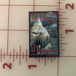 Matterhorn Disney Ride Attraction Posters Flat back Printed Resin