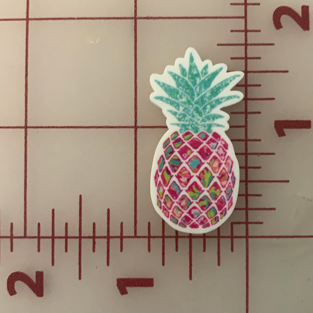 Lilly P Pineapple Flat back Printed Resin