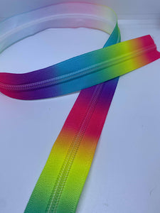 Rainbow Zipper Tape By the Yard Hardware