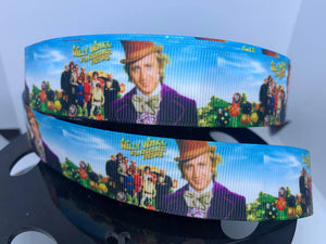 1 Yard 1 inch Willy Wonka and the Chocolate Factory Grosgrain Ribbon