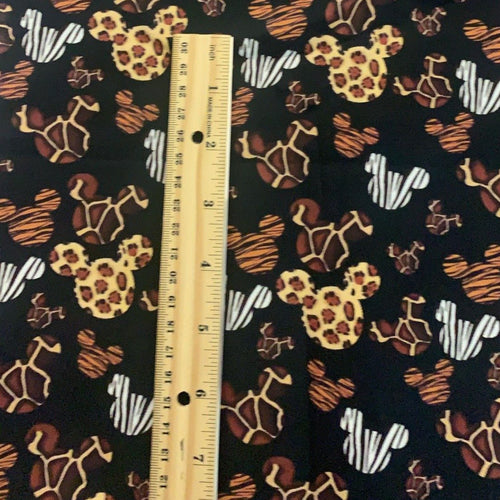 PRINT ON DEMAND 100% Cotton Mickey Head Animal Print Fabric