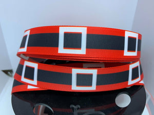 "1 yard 7/8"" Santa Belt  Grosgrain Ribbon"