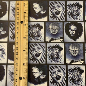 Legends of Horror Printed Synthetic Leather Sheets Horror