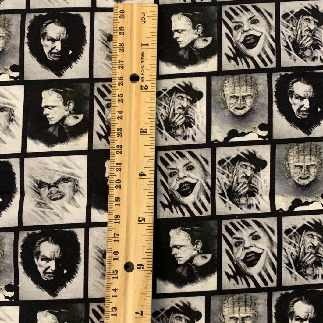 100% Cotton Legends of Horror Inspired Custom Fabric