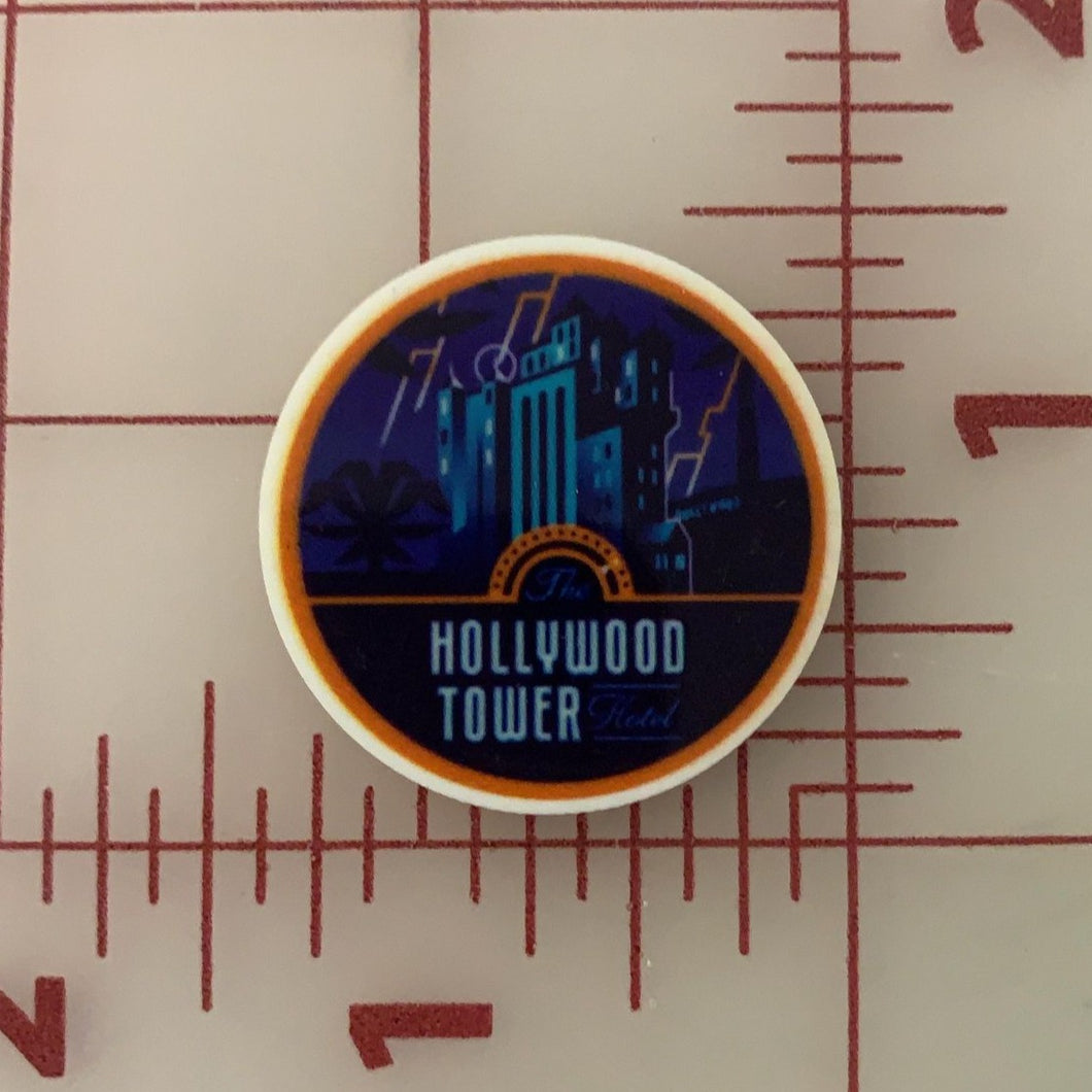 Destination Hollywood Tower of Terror Flat back Printed Resin