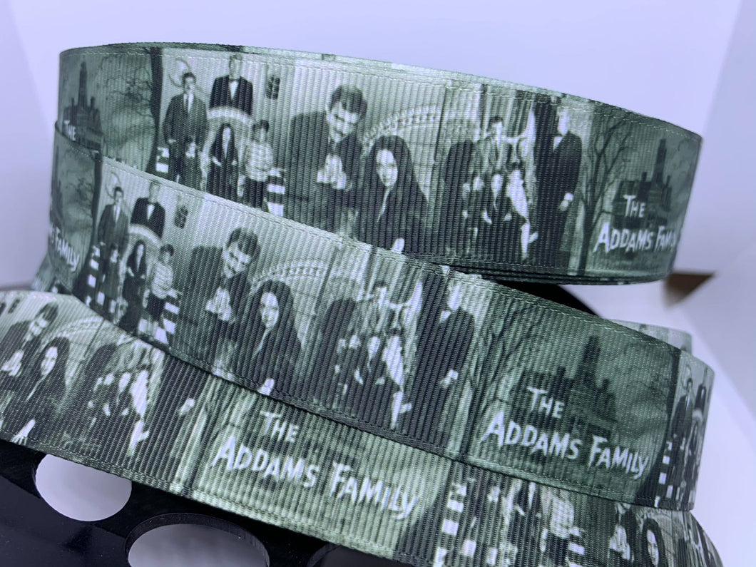 1 yard 1 inch The Addams Family Classic TV Show Grosgrain Ribbon