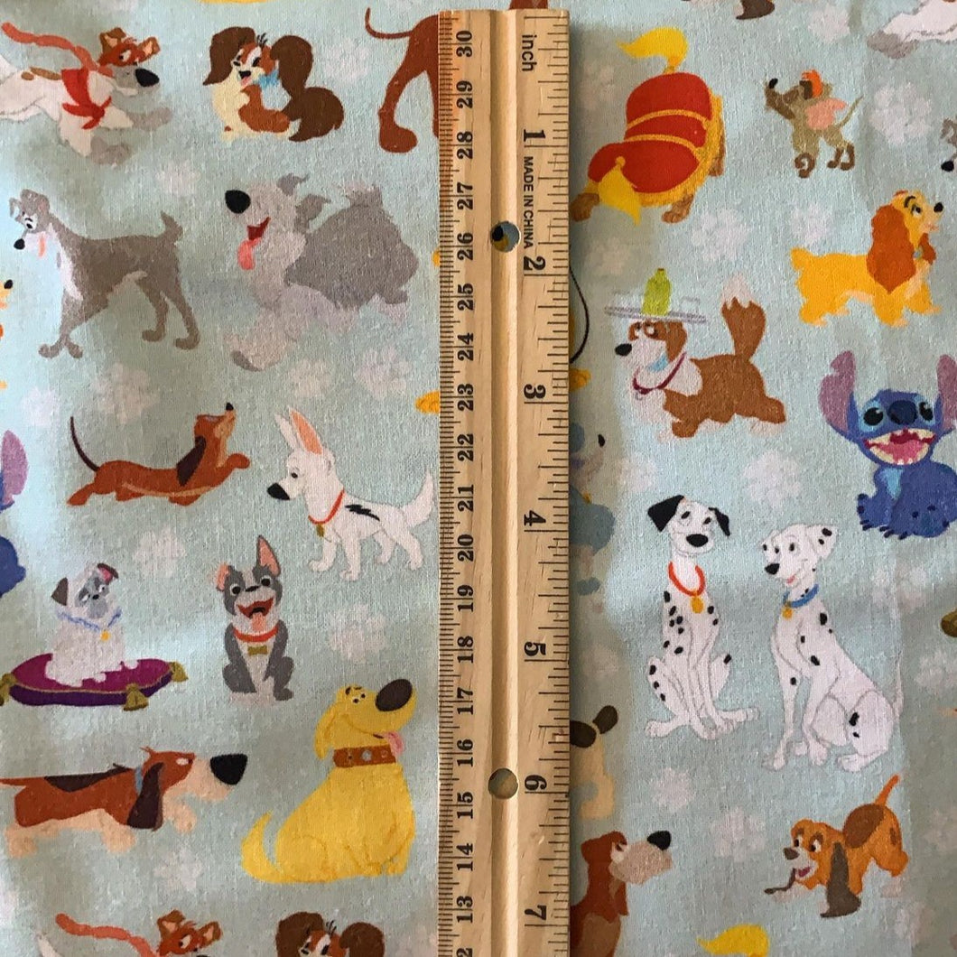 100% Cotton Medium print size Disney Dogs Purse Inspired Fabric