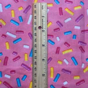 100% Cotton PINK Sprinkles Fabric