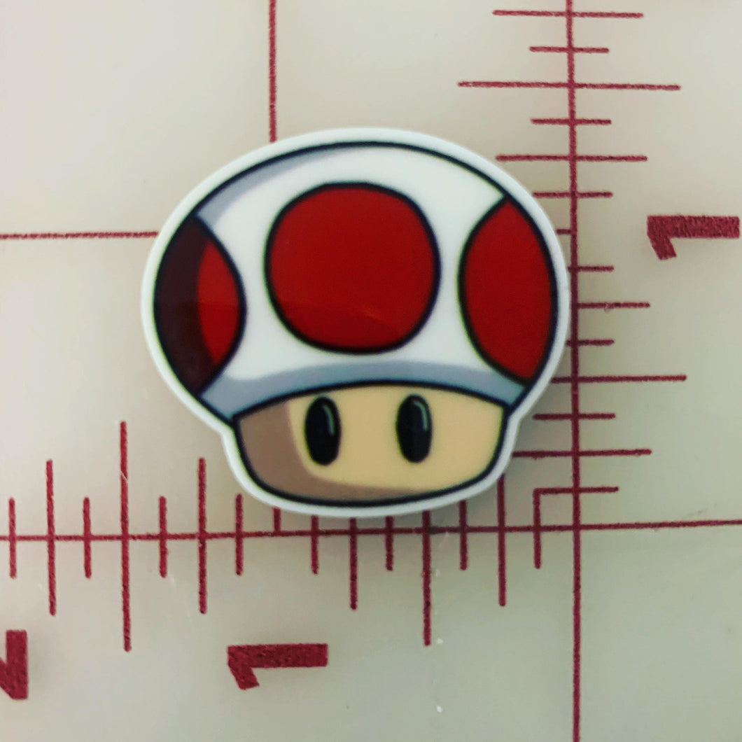 Mushroom from Super Mario Bros Flat back Printed Resin
