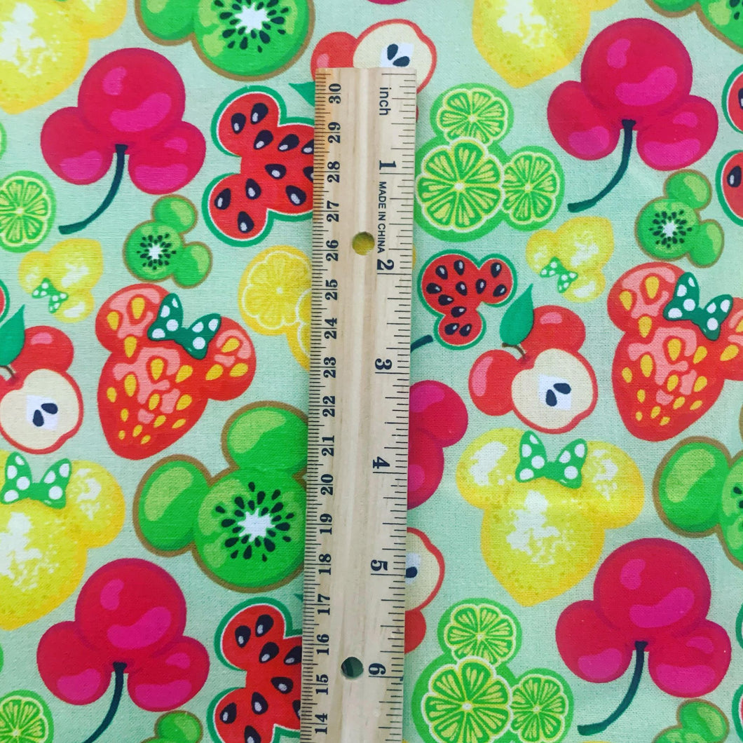 PRINT ON DEMAND 100% Cotton Mickey Fruit 2.0 Print Fabric