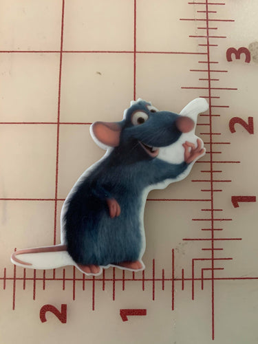 Ratatouille Remy the Rat Flat back Printed Resin