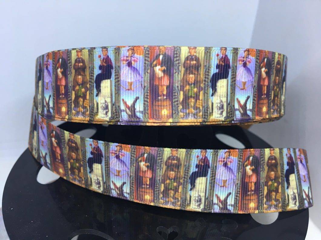 1 yard 1 1/2 inch Haunted Mansion Stretching Portrait Grosgrain Ribbon Ghost Host