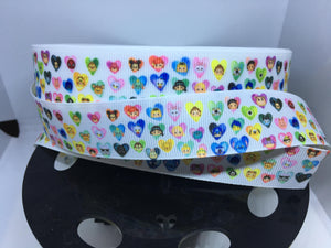 1 Yard 1 Inch Valentines Day Hearts Marvel Star Wars and Disney Grosgrain Ribbon