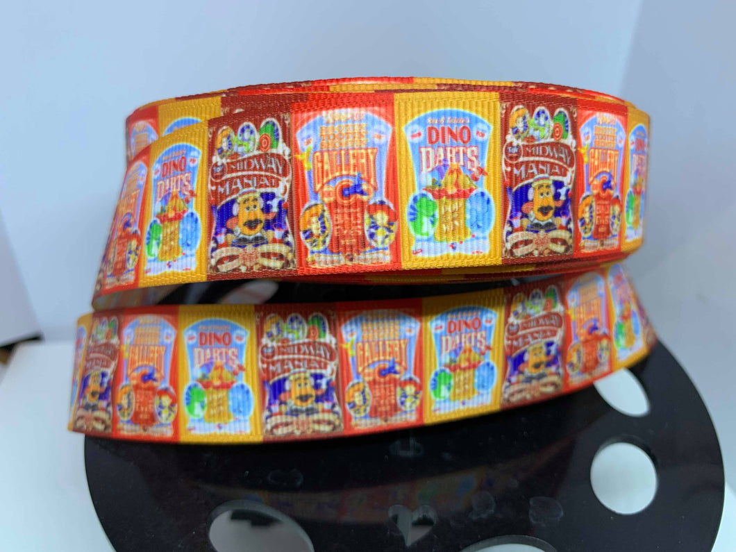 1 Yard 1 inch Toy Story Midway Mania Game Poster ribbon
