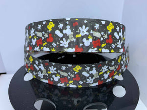 1 yard 1 inch Mickey Mouse Confetti Dooney Purse Print Grosgrain Ribbon