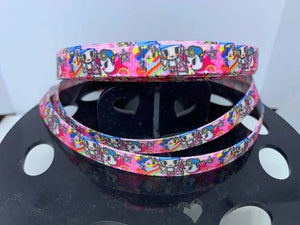 "1 yard 3/8"" TokiDoki or Toki Doki Grosgrain Ribbon -Bow Making Ribbon Perfect for cat Collars pr Small Dogs Kawaii"