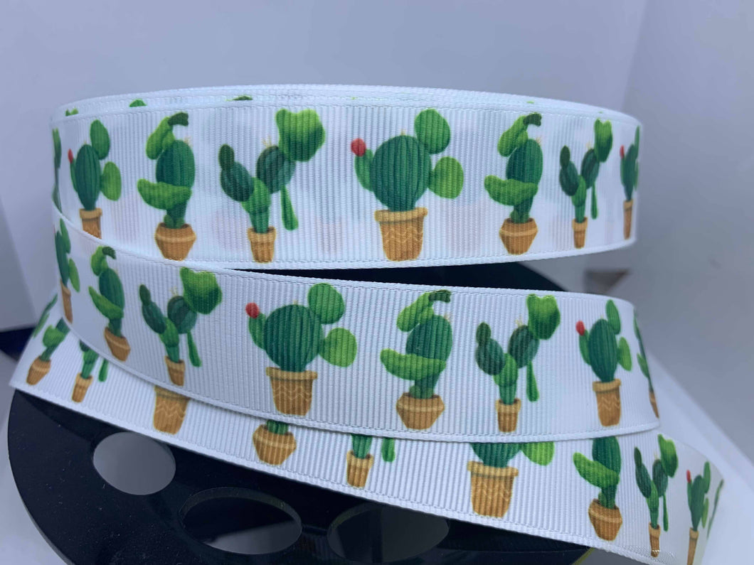 DCS Exclusive 1 Yard 1 Inch Character Cactus Mickey, Donald Goofy Grosgrain Ribbon