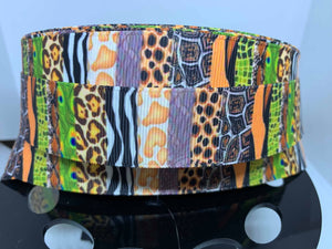1 yard 1 inch Animal Prints Animal Kingdom Animal Print Grosgrain Ribbon