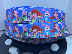"7/8"" Toy Story 4 Grosgrain Ribbon craft supply, hair bow, dog collar"
