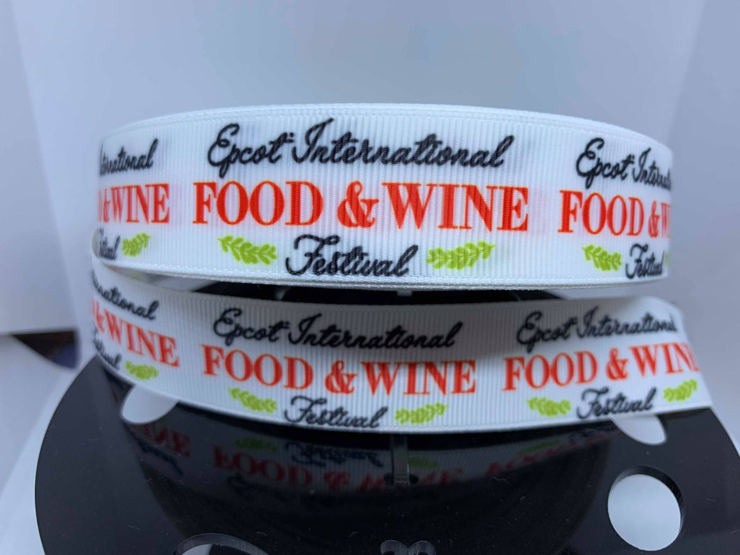 1 yard 7/8' EPCOT Food & Wine Festival Grosgrain Ribbon