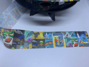 1 Yard 1 1/2 inch Tomorrowland Attraction Poster Grosgrain Ribbon