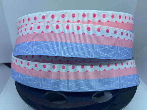 1 inch Bo Peep Toy Story,Grosgrain Ribbon craft supply, hair bow, dog collar