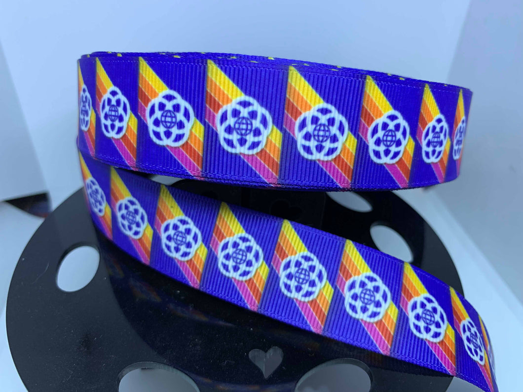 1 yard 1 inch Retro EPCOT Center l Grosgrain Ribbon Epcot Forever