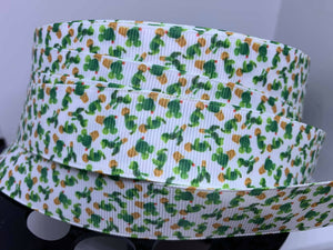 DCS Exclusive 1 inch Character Cactus Grosgrain Ribbon Grosgrain Ribbon