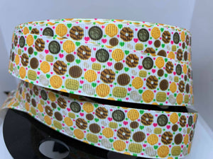 1 inch Girl Scout Cookies,Grosgrain Ribbon craft supply, hair bow