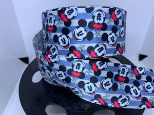 1 Yard 1 1/2 inch Classic Mickey and Minnie Mouse SATIN Ribbon